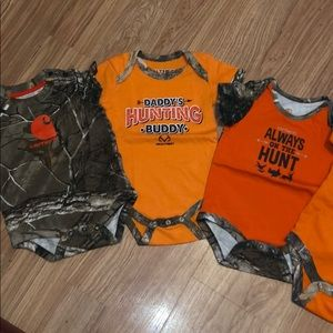 Other - Set of 5 baby boy camoflauge/hunting body suits